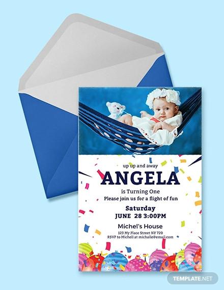 38 first birthday invitation templates