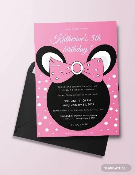 33 minnie mouse birthday invitation