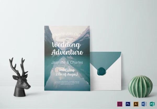 Rustic Wedding Invitations Psd