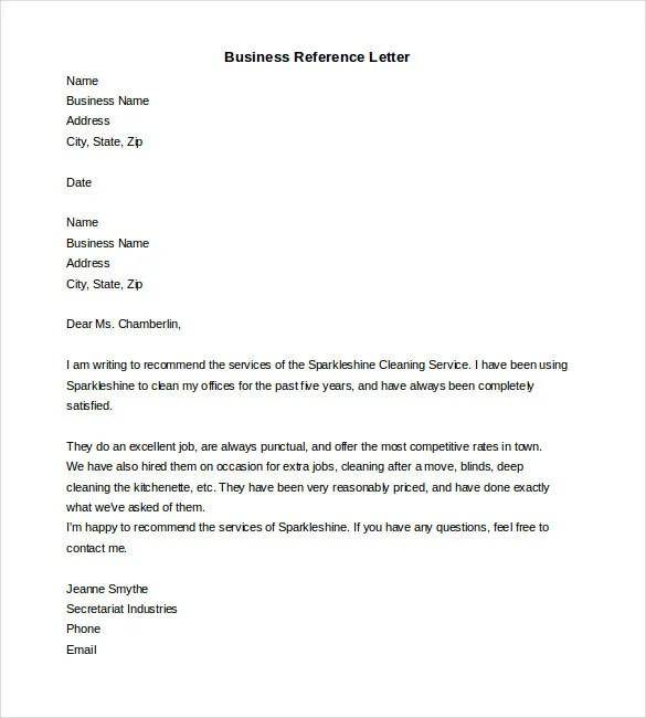 Reference Letter Word Format Bodum