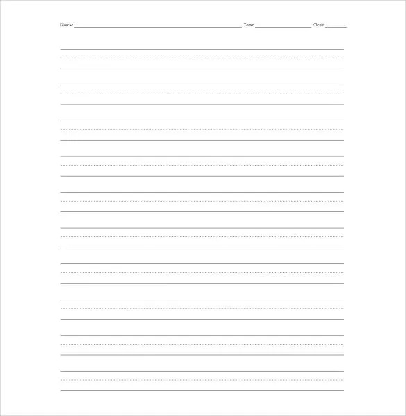 11+ Lined Paper Templates - DOC, PDF, Excel | Free ...