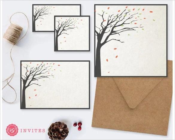 Tree Rustic Wedding Invitation Background