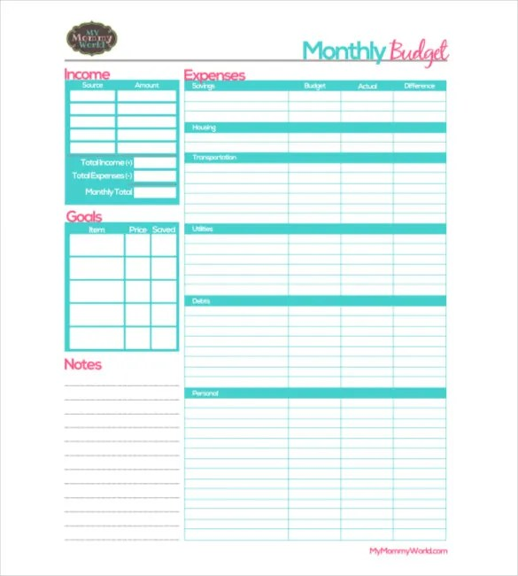 25 Monthly Budget Templates Word Pdf Excel Free