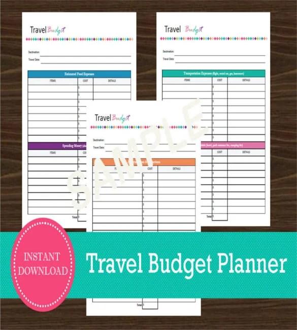 10 Travel Budget Templates Free Sample Example Format Download Free Amp Premium Templates