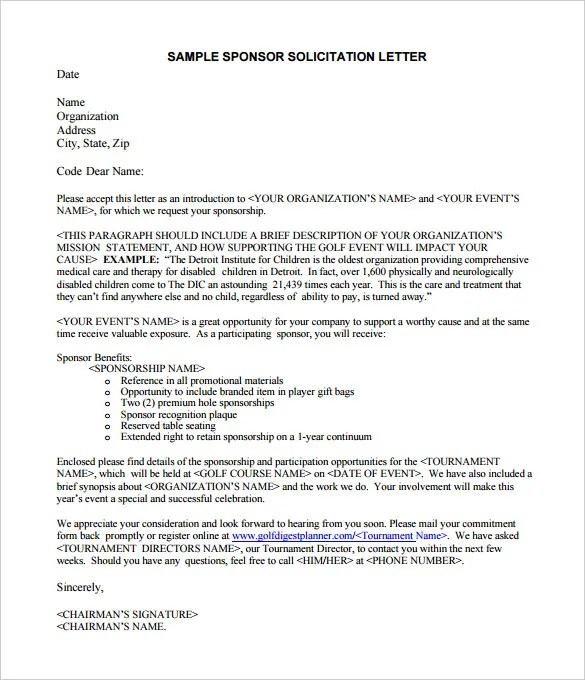 How To Write A Proposal Letter For Sponsorship Pdf - Cover Letter ...