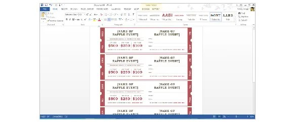Avery Raffle Ticket Template Free Download How To Create Tickets In