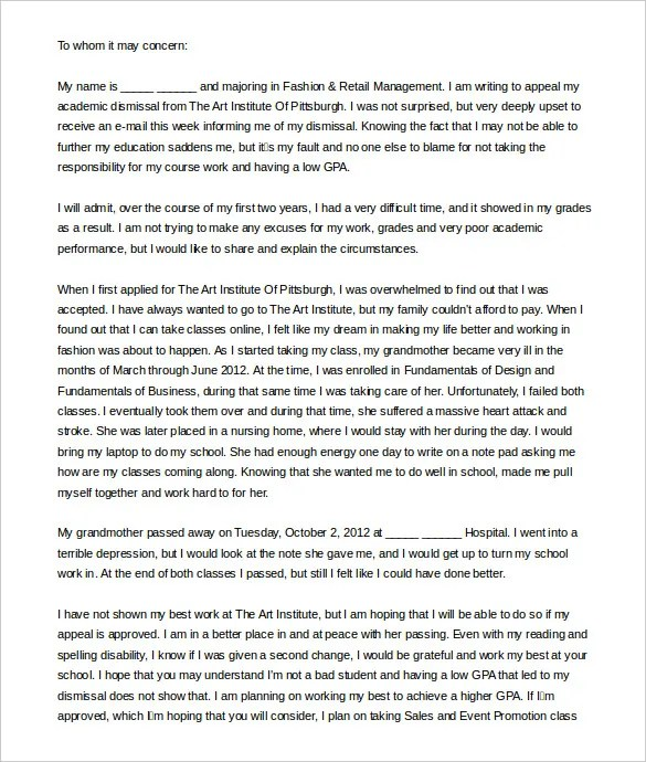 How To Write A College Appeal Letter For Acceptance - Cover Letter ...