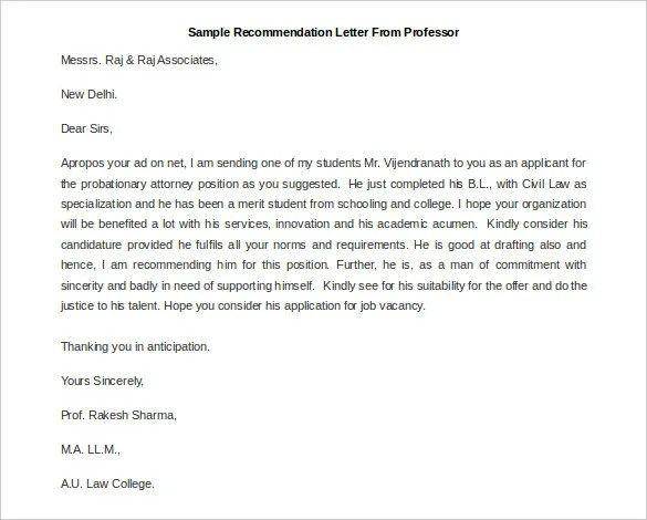 30+ Recommendation Letter Templates - PDF, DOC
