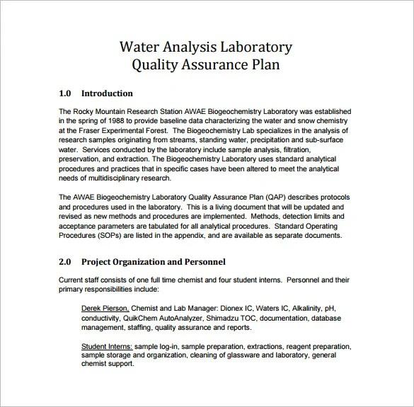 16+ Quality Assurance Plan Templates - Word, PDF, Google ...