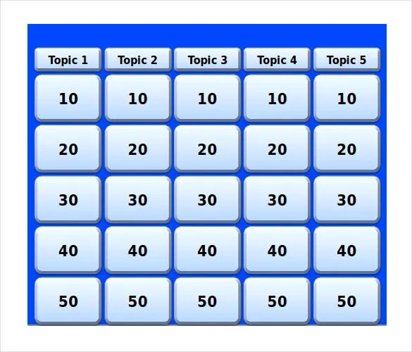 Keynote Jeopardy Template 6 Free Word PDF PPT Documents Download Free Premium Templates