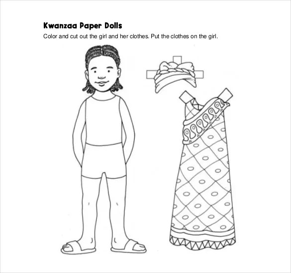 12 Paper Doll Templates Free Sample Example Format