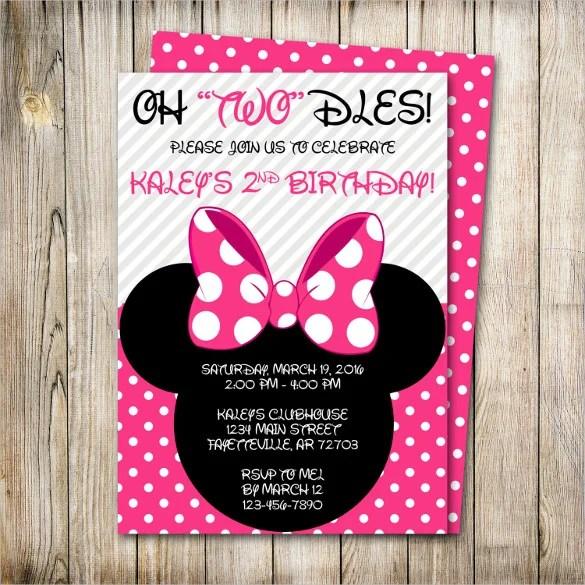 33 minnie mouse birthday invitation