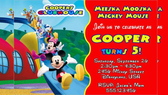 20 mickey mouse birthday invitation