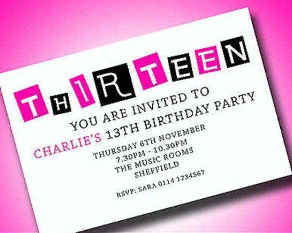 20 teenage birthday invitations psd
