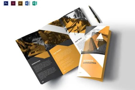 Tri Fold Brochure Templates   56  Free PSD  AI  Vector EPS Format     business tri fold brochure template