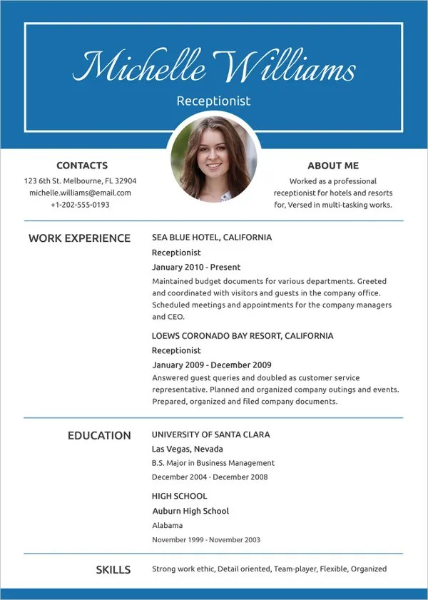 Here are a three common resume templates. 37 Resume Template Word Excel Pdf Psd Free Premium Templates