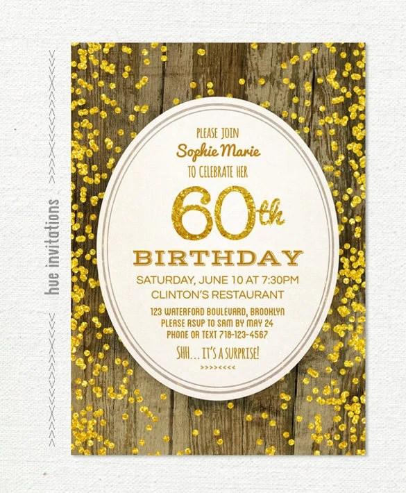 28 60th birthday invitation templates