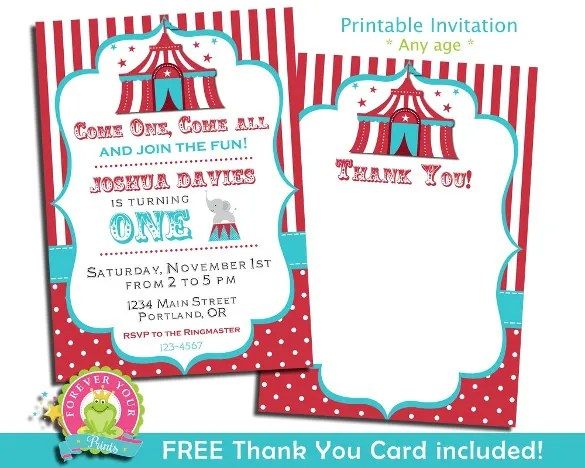 27 carnival birthday invitations