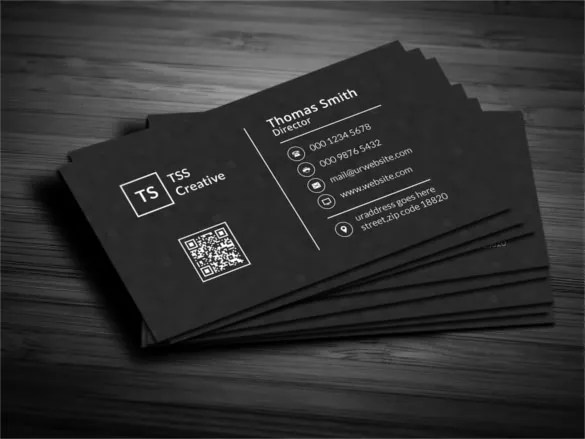 45  Cool Business Cards   Free PSD  EPS  Illustrator Format Download     Modern Dark Pixels Business Card Template PSD