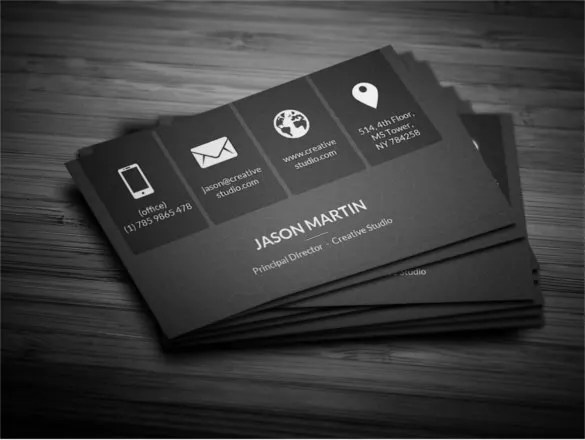 45  Cool Business Cards   Free PSD  EPS  Illustrator Format Download     Download Metro Dark Corporate Business Card Template