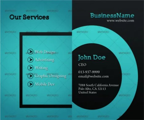 45  Cool Business Cards   Free PSD  EPS  Illustrator Format Download     Smart Cool Business Card Template PSD Layered Format