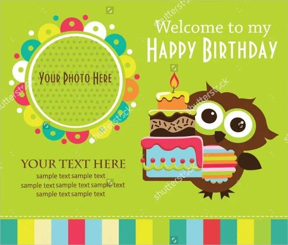 postcard birthday invitation templates