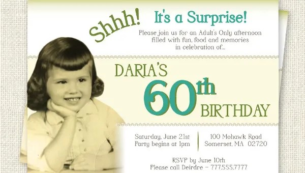 26 60th birthday invitation templates