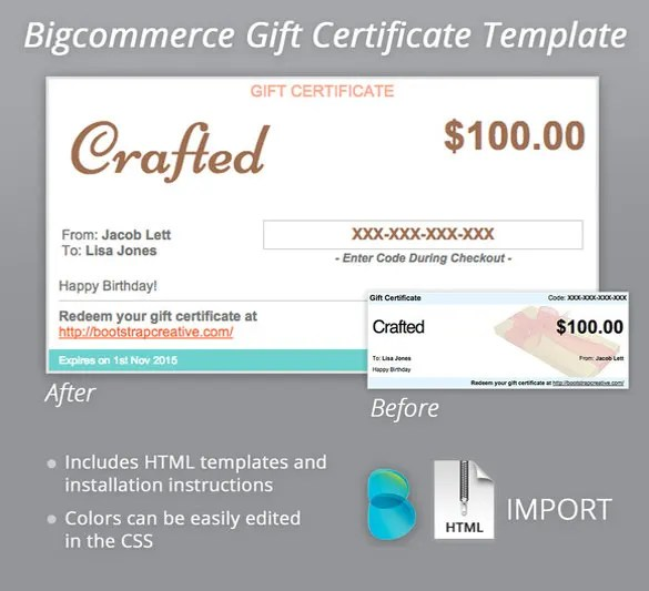 7 email gift certificate templates free sample example format - Gift Certificate Example Templates
