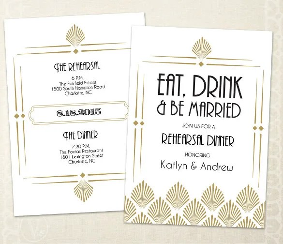 Dinner Invitation Sle Custom Template Design By Derrick J Freeman