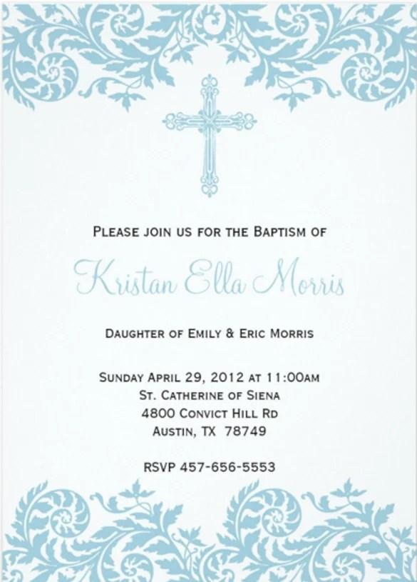 Simple Baptism Invitations