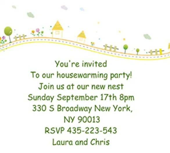 Invitation For Housewarming Ceremony Templates