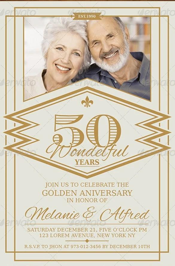 Vintage Silver Anniversary Invitation