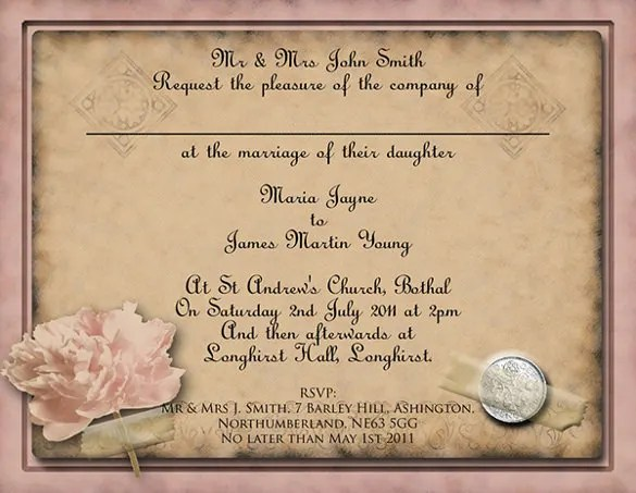 24 Vintage Wedding Invitation Templates PSD AI Free