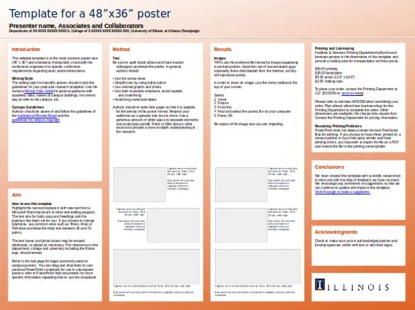 10 powerpoint poster templates ppt