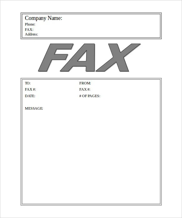 Fax Cover Sheet Pdf Free Download