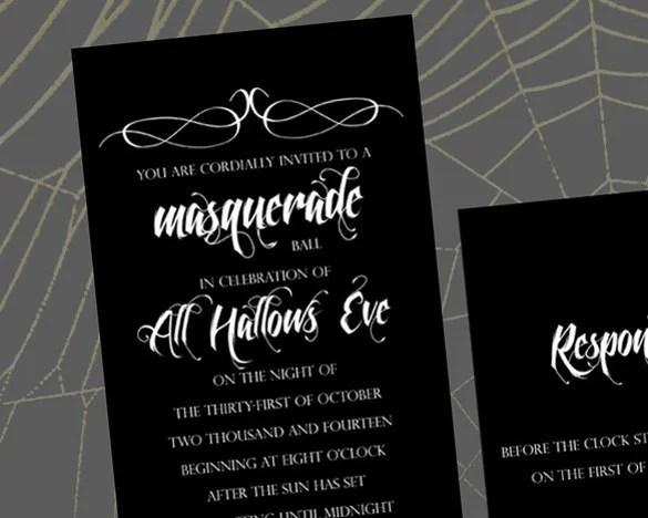 Masquerade Ball Wedding Invitations PaperInvite