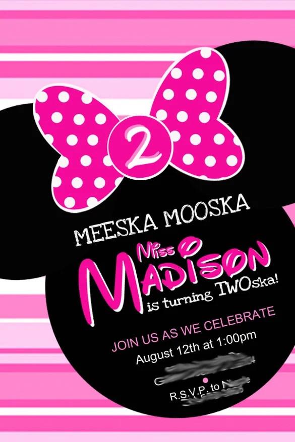 26 minnie mouse invitation templates