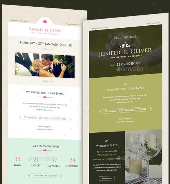 Wedding Invitation Psd Email Template