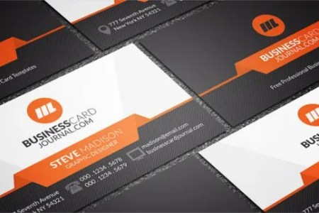 33  Free Business Cards   PSD  AI  Vector EPS   Free   Premium Templates stylish orange accent business card template free