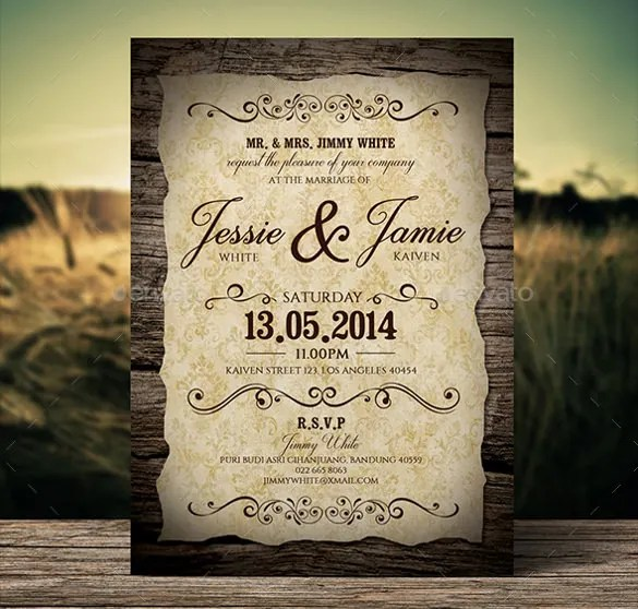 Get This Wedding Invitation Template Ed And Create A Unique Vine Style Card Design For You Its Size Features Include 6x4