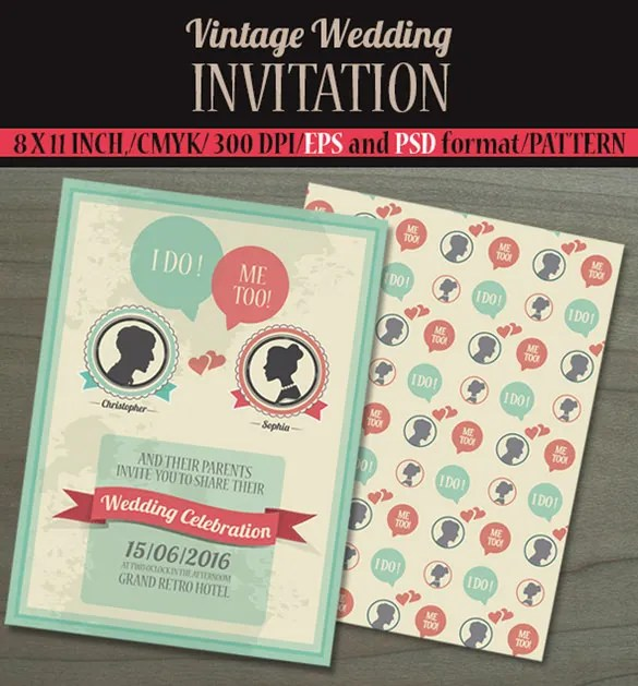 Make Your Wedding Invitation Card A Perfect Blend Of Vintage And Modern With The Help This Template That Has Simple But