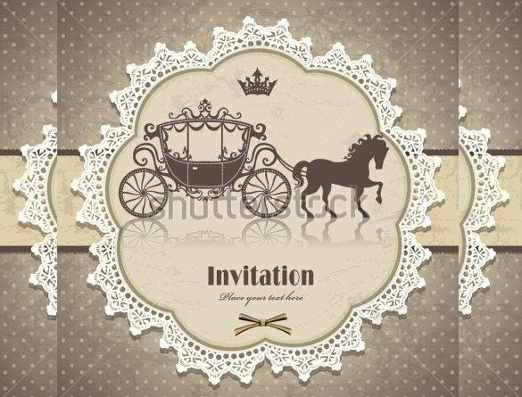 Vine Horse Carriage Invitation Template