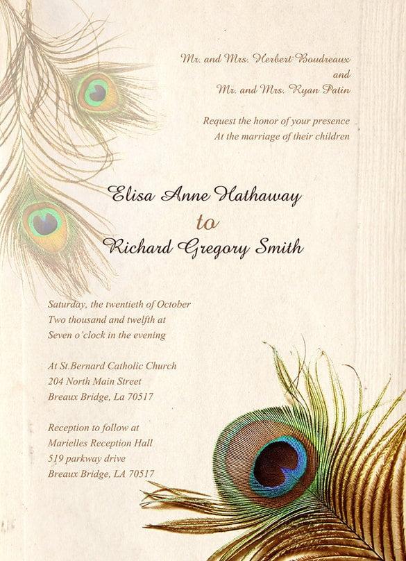Simple Wedding Shower Invitations