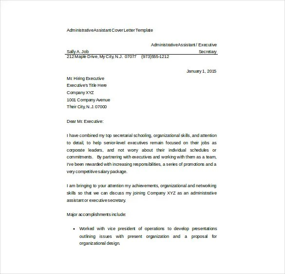 Bail agent cover letter