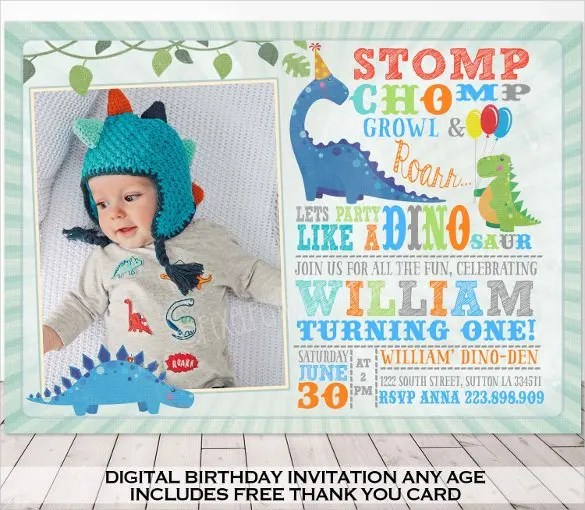29 Dinosaur Birthday Invitation Designs Amp Templates Psd