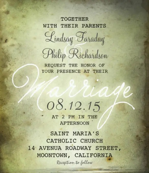 20 Wedding Reception Invitation Templates Free Sle Exle Invitations