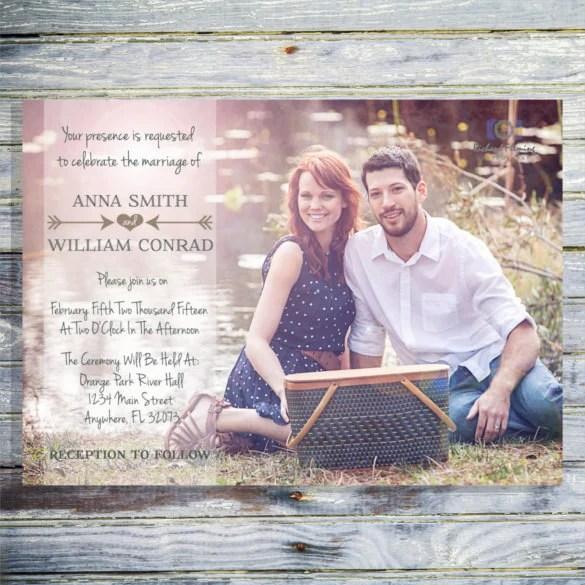 24 Photo Wedding Invitations AI PSD InDesign Word Free Premium Templates