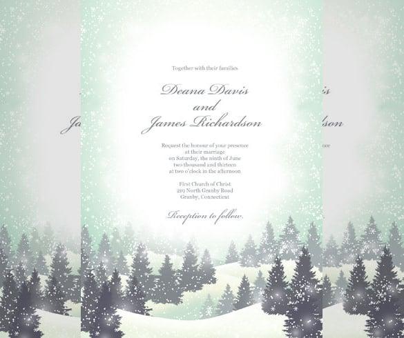 Winter Wonderland Wedding Invitation Free