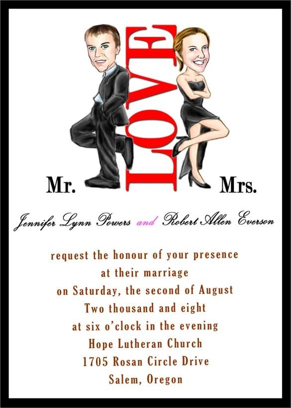 Handmade Funny Wedding Invitation Template