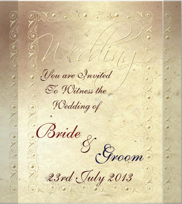Samples Wedding Invitation Cards